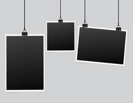 Vector paper frame, isolated on light background.