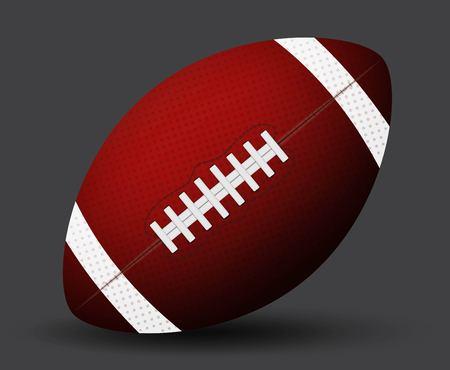 American football icon. Illustration