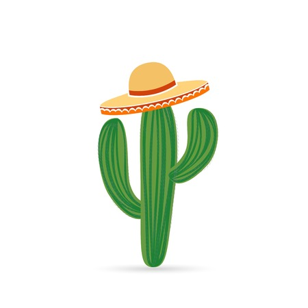 Cool Mexican cactus icon.