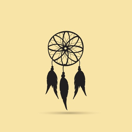 Native American Indian Dream catcher vector illustration. Ilustracja