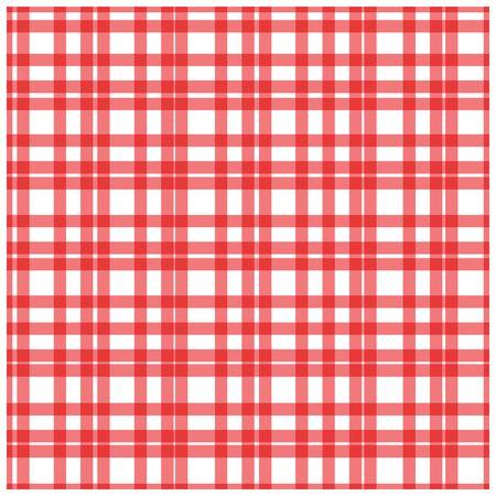 Red plaid checkered gingham pattern vector illustration. Illustration