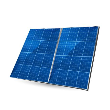 Solar plate collector. isolated vector illustration on white background. Vettoriali