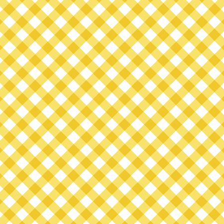 Yellow checkered tablecloth. Background Illustration