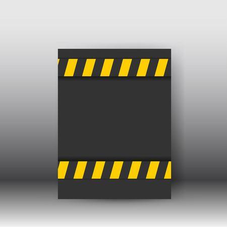 detailed illustration of a industrial danger lines background. poster and brochure design