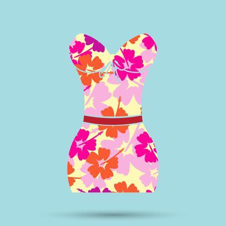 women's swimsuit design. Fashion bikini