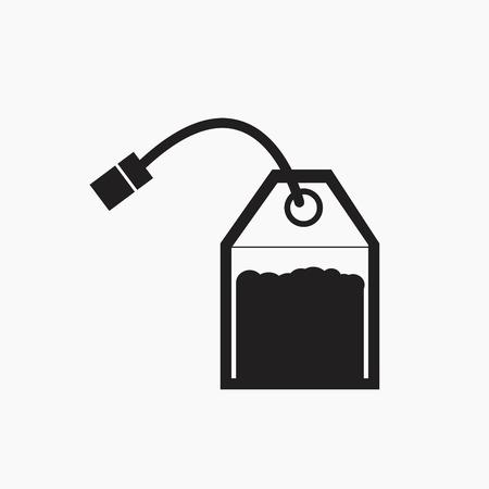 Tea bag vector icon.