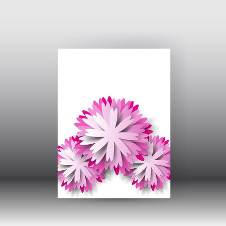 Brochure design background. Flyerfloral poster and brochure design