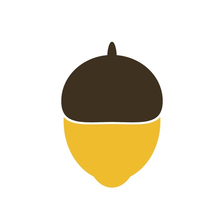 Vector illustration of glossy acorn on white background Ilustracja