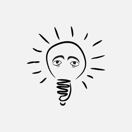 lightbulb eyes icon Ilustracja