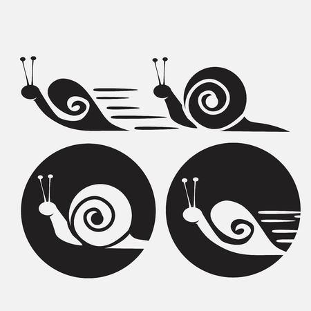 Snails icons set