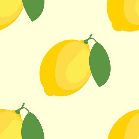 Lemons and Limes Seamless Pattern Standard-Bild - 125248327