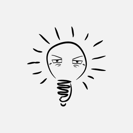lightbulb eyes icon Иллюстрация