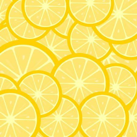 Fruity background with lemon slices Standard-Bild - 125248351