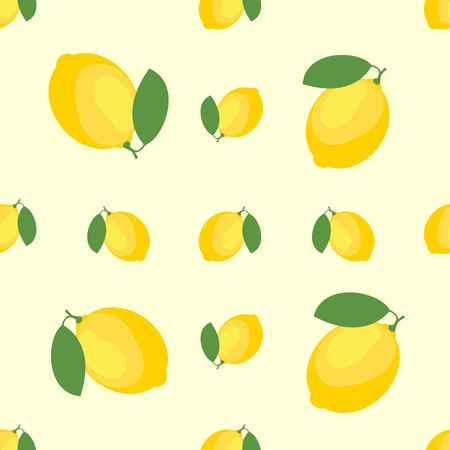 Lemons and Limes Seamless Pattern