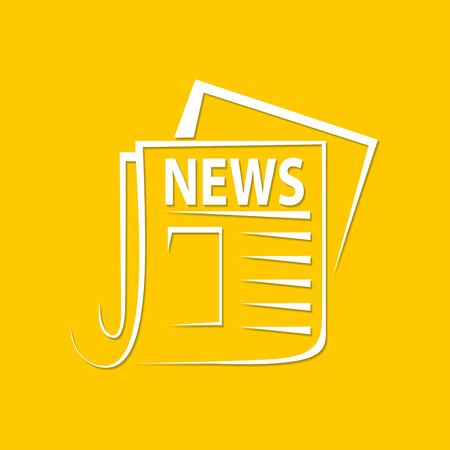 news newspaper icon on a yellow background