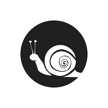 snail animal silhouette