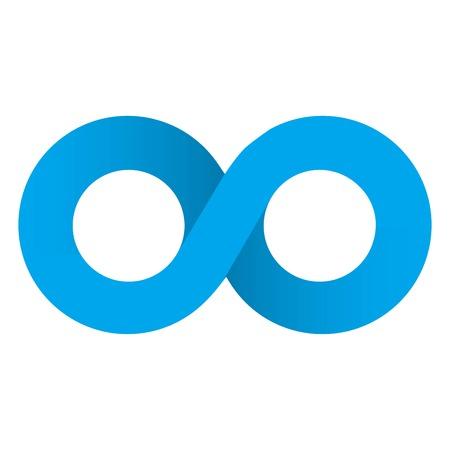 Infinity Icon Vector. Ilustração
