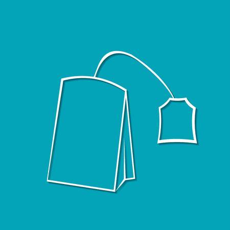 Vector tea bag icon. Food icon
