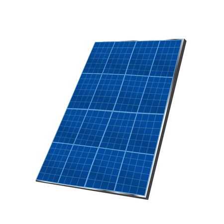 Solar plate collector. isolated vector illustration on white background. Archivio Fotografico - 125251714