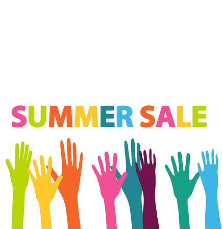 summer sales hands