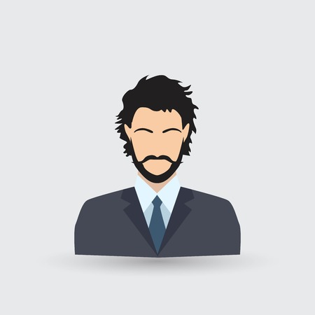 Business man Icon 矢量图像