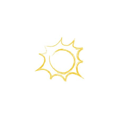Drawing of sun. Vector illustration