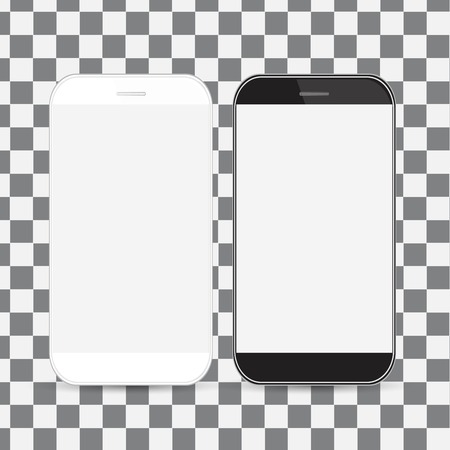 Smartphone, mobile phone isolated, realistic illustration.