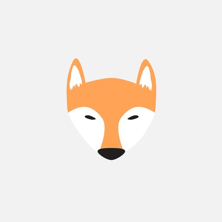 unique fox logo design Banque d'images - 118128366