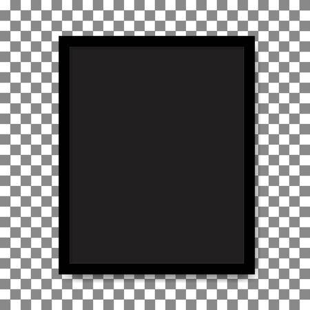 Black vintage photo frame. Vector. Illustration