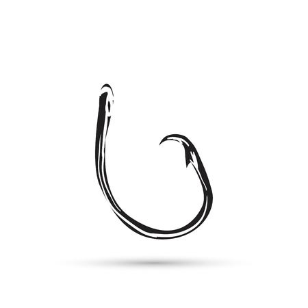 Fishing hook isolated on white vector illustration
