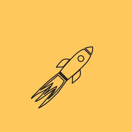 Rocket Vector Icon Stock Illustratie