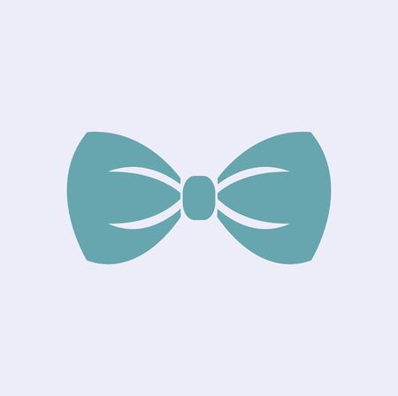Illustration of bow tie icon on white background 일러스트