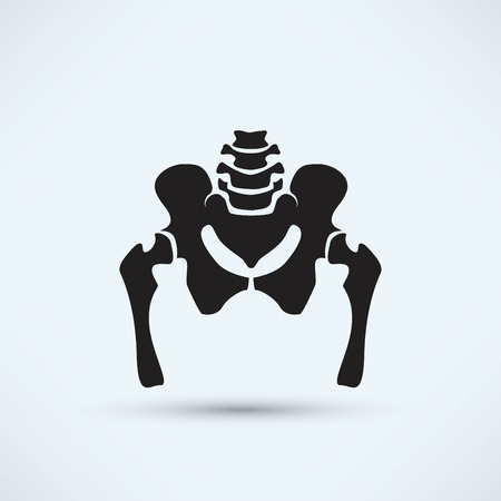 pelvis skeleton silhouette icon