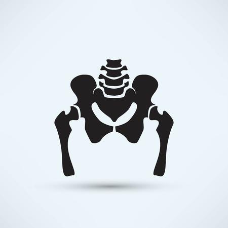 pelvis skeleton silhouette icon Stok Fotoğraf - 118128916