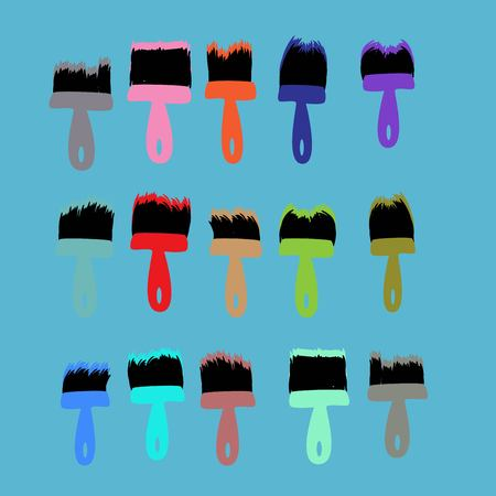 paint brushes set Ilustracja