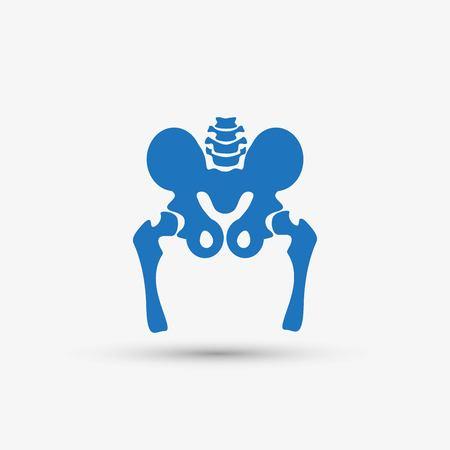 Hip bone icon. Stok Fotoğraf - 118128942