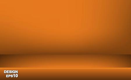 Fond de salle de table de studio de couleur jaune pastel vide de vecteur