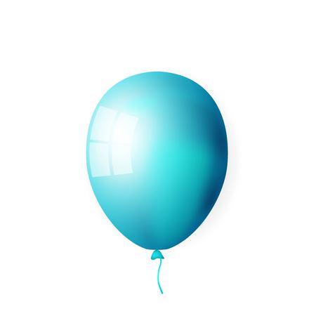 illustration of blue shiny balloon