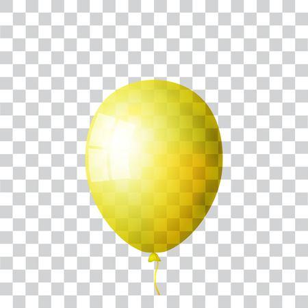 Realistic yellow balloon