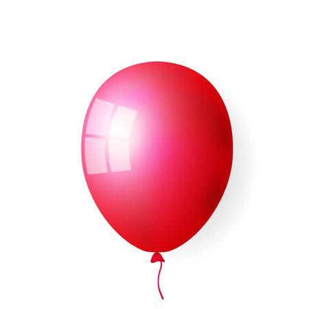 Red balloons illustration Иллюстрация