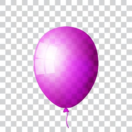 Purple realistic balloon Иллюстрация