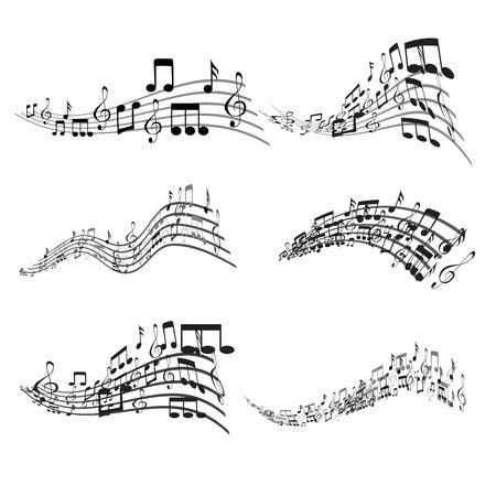 Set of Colorful Musical Notes Illustration Banque d'images - 119283443