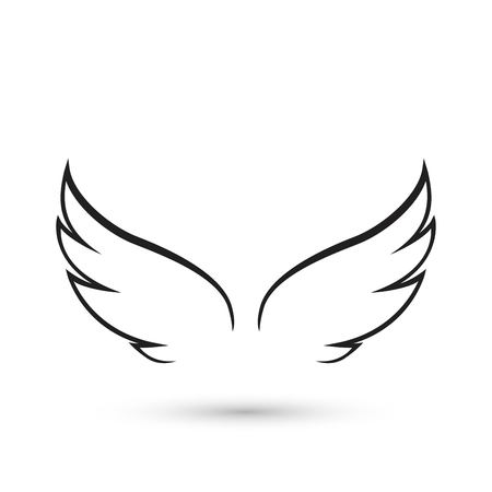 Angel Wings icon Vettoriali