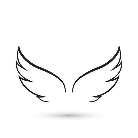 Icono de alas de angel