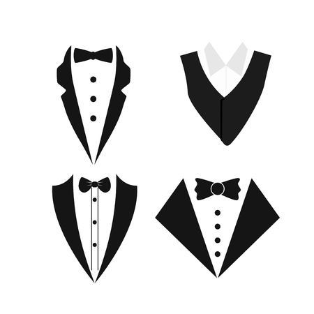 Suit icon isolated on a white background.