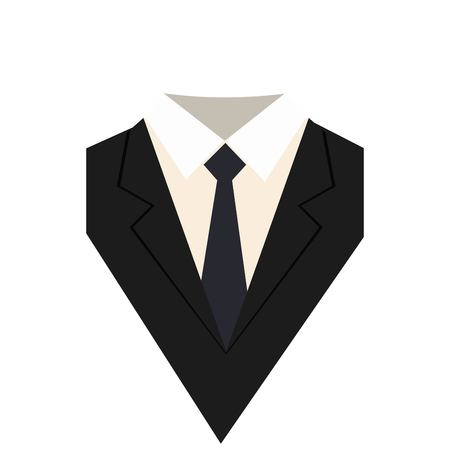 Icono de traje aislado sobre fondo blanco.
