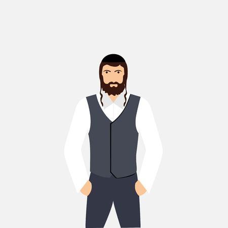 Jew man character Vector Illustration
