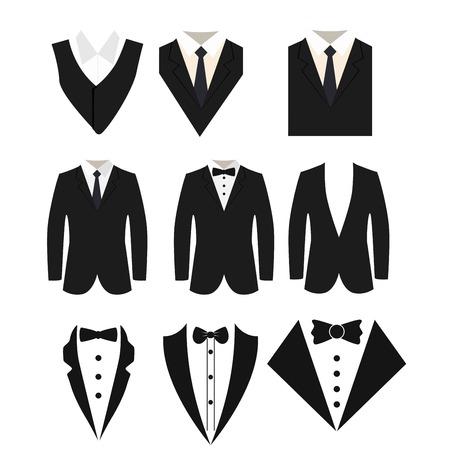 Icône de costume isolé sur fond blanc.