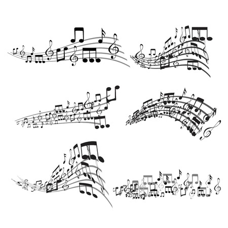 Set of Colorful Musical Notes Illustration Banque d'images - 119283644