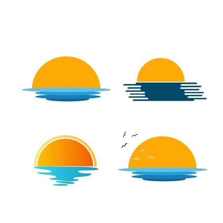 sun over the sea set